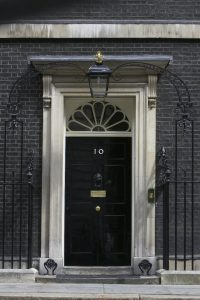 Door at 10 Downing Street