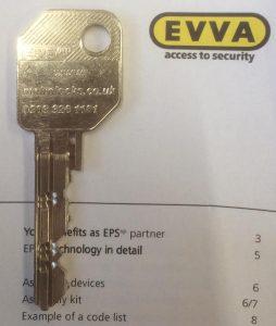 Metrolocks EVVA EPS key